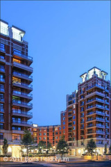 20080711062sc_Eclipse (Boris Feldblyum Photography) Tags: color building brick architecture modern arlington digital photography virginia eclipse architecturaldetail dusk illuminated residence condominium digitalphotography exteriors the daviscarterscott