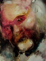Portrait of Jan Theuninck by Koen Pattyn, 2013 (Gray Moon Gallery) Tags: koenpattyn jantheuninck portrait paintedpainters portret schilder painter painting schilderij ritratto belgium lucianfreud jennysaville