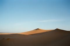 Dunes (JoelZimmer) Tags: travel film sahara 35mm morocco nikonf3 sanddunes highlighted ergchebbi fuji400hat100