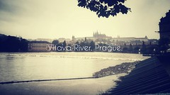 Vltava River. Prague. (Charlotte90T) Tags: mobile river typography gloomy czech prague rainy vltava