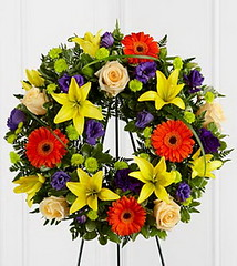 FTD Radiant Remembrance Wreath (dobdeals.com) Tags: flowers wreaths eventsupplies