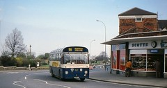 Five o'clock nearly thirty five years ago (georgeupstairs) Tags: 6 bus saloon highstreet scotts willowbrook cleethorpes gct reliance jewellers aec alexandraroad grimsbycleethorpestransport xee580