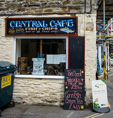 Central Cafe - Megavissey, Cornwall, England, UK (Paul Diming) Tags: uk greatbritain england landscape spring unitedkingdom chippy fishingvillage fishchips mevagissey centralcafe mevagisseycornwall d7000 mevagisseyuk pauldiming mevagisseycornwallengland mevagisseyengland