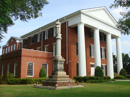 Greene County Court House & Confederate States of America Monument---Greensboro, Ga.