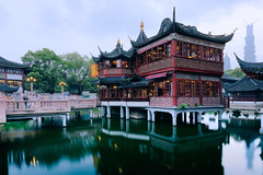 City God Temple of Shanghai (Lord Shen) Tags: china city sunset urban architecture night canon landscape photography asia nightscape shanghai traditional chinese clear