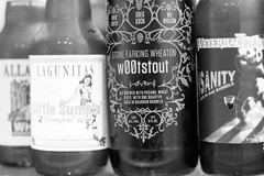 my fridge is a pretty awesome place (mevrain) Tags: blackandwhite beer alcohol wilwheaton blackandwhitephotography stonebrewing luckyme drewcurtis gregkoch wootstout