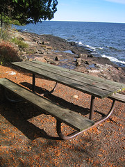 Cascade River State Park picnic area on Lake Superior