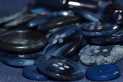 Blue buttons (hcorper) Tags: bokeh buttons august darkblue knappar 365d mrkbl nikond3100 daysincolour