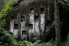 Graves in a rock (oeyvind) Tags: indonesia sulawesi tombs bori idn tanatoraja toraja southsulawesi sulawesiselatan sulsel aluktodolo