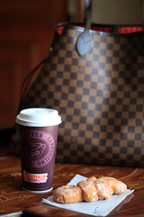 Good Night // This picture is dedicated to anyone who loves Dunkin Donuts ☕☕ (Luluwh Al Omari) Tags: pictures coffee bag photography louis photo al perfect photographer photos picture large professional photographs photograph donuts saudi cappuccino riyadh byme vuitton dunkin lv qatar q8 omari luluwh