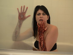 I Didn't Mean to Do It (Katie Elster) Tags: halloween girl dark shower blood nikon bath katie fake eerie creepy d800 elster