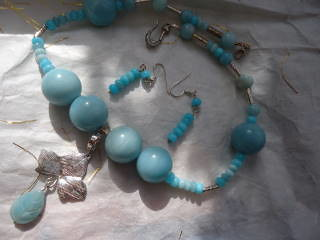 75 Necklace and earrings by Sheena M Stephen