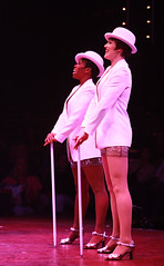 Brenda Braxton (Velma Kelly) and Lindsay Roginski (Roxie Hart) in Chicago produced by Music Circus at the Wells Fargo Pavilion August 20-29, 2013. Photo by Charr Crail.