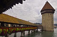 Kapellbrcke water tower, Lucerne (Jasper180969) Tags: switzerland luzern lucerne kapellbrcke