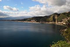 TaorminaMare (gpila) Tags: mare neve sicily taormina etna sicilia golfo pila baia
