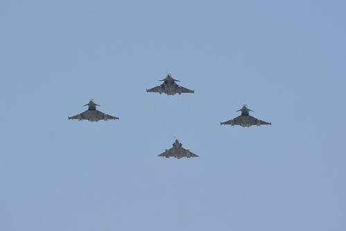 Two Eurofigher, One Mirage 2000, One Rafale