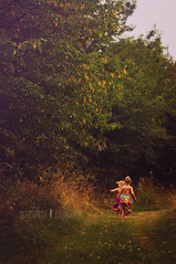 let's explore a thousand imaginery worlds (Bildersommer) Tags: life old trees girls summer tree love nature childhood kids fairytale sisters forest vintage children moody child natural path magic meadow siblings sensual retro together fairies sisterhood kiddos