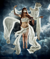 319 (Drummy ) Tags: sky woman angel photoshop project creative floating manipulation daily imagination 365 cloth angelic drummy drumrollstudios