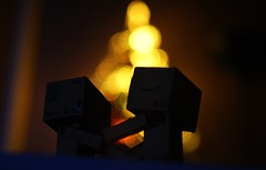 Christmas love (Stephen_Holt) Tags: christmas macro love silhouette night dark lights hands bokeh danbo