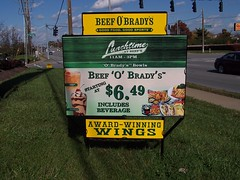Yard Sign | Signarama Lexington, KY | Beef O'Brady's