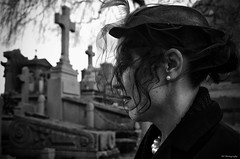Campo Santo (RO Photography NL) Tags: leica woman cemetery graveyard belgium belgie gent cimetiere begraafplaats 2014 kerkhof camposanto leicaxvario