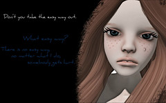 There is no easy way. (Colorfulspring Resident) Tags: life love true dark way doll sad sl elf secondlife second cry sadly secodnlife