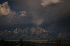 Teton Moonbow (DEARTH !) Tags: mountain storm mountains night clouds landscape outside outdoors nationalpark rainbow jackson nighttime moonlight wyoming tetons moonbow dearth grandtetonnationalpark