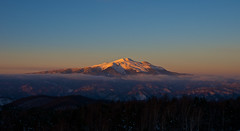 10 minutes before sunset, Orange variations (Yoshia-Y) Tags: sunset mtnorikura mtkisoontake