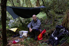 _IGP5017 - sml (Pete Prue) Tags: new camping camp west forest coast bush woods peaceful tent zealand hammock ferns tramping campsite hennessy hennesyhammock peterprue