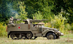 Armor in Battle IV (Jim Frazier) Tags: world old summer two people man male men classic vintage illinois war uniform antique military wwii caps hats battle guys days september il worldwarii armor ww2 violence conflict soldiers classical guns warriors battlefield combat reenactment worldwar weapons reenactors q3 tanks rockford worldwar2 helmets reenacting warfare reenactments midwayvillage 2013 midwayvillagemuseum ©jimfraziercom wmembed 20130921wwiidays