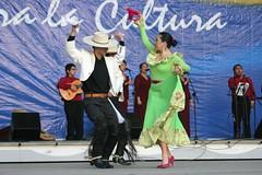 El Conjunto Maucó interpretando Música y Danzas de Chile. VII Encuentro del Adulto Mayor. Quinta Vergara, Viña del Mar. Baila el matrimonio Hugo Vargas y Claudia Cabello, septiembre de 2005.