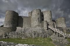 Harlech Castle. (Th3 Highlander) Tags: building castle castles weather wales architecture clouds buildings landscape landscapes nikon day cloudy sigma harlech 1020mmf456exdc d5100 nikond5100