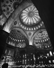 Something simple about Film... (NoahWmR12) Tags: travel blue white black mamiya film turkey kodak trix 7 istanbul mosque ishootfilm ii 400 filmisnotdead
