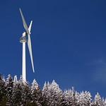 Eye of the Wind Turbine on Grouse Mountain, 2014 Keurig Cup Spring Series Slalom at Grouse PHOTO CREDIT: Derek Trussler