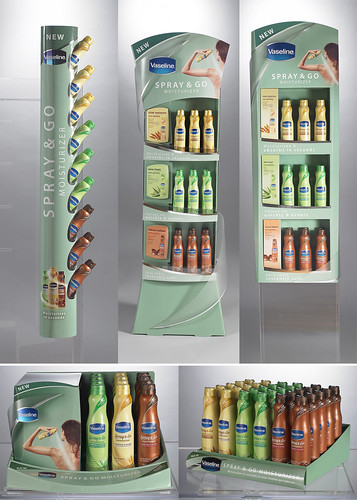 Vaseline Spray & Go Launch By Sonoco Display and Packaging