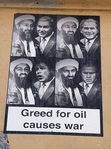Greed for oil causes war