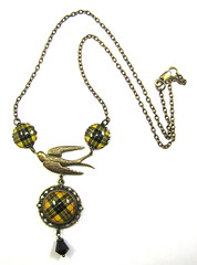 Ancient Romance Series - Scottish Tartans Collection - MacLeod of Lewis Soaring Bird Necklace