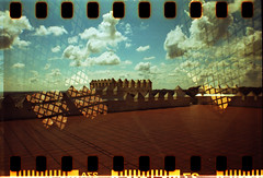 (lu.ramos78) Tags: sky castle film clouds 35mm iso100 lomo lomography doubleexposure diana cielo nubes castillo 100asa tandil anloga