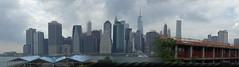 Imperfectly Grand Views of NYC - IMGP0187 (catchesthelight) Tags: newyorkcity panorama brooklyn skyscrapers manhattan pano eastriver manhattanskyline panos lowermanhattan overcastsky