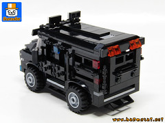 SWAT VEHICLE 02 (baronsat) Tags: lego swat vehicles truck van armed tactics heavy weapon special team police armored moc custom model instructions