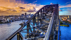 Sydney Harbor (The Happy Traveller) Tags: sydney australia sydneyharbor cityscapes scenery sceniclandscapes sunset
