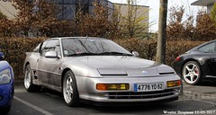 Alpine A610 Turbo 1991 (XBXG) Tags: 4776yd62 alpine a610 turbo 1991 alpinea610 v6 30ème salon des belles champenoises époque reims marne 51 grand est grandest champagne ardennes france frankrijk old classic french car auto automobile voiture ancienne française vehicle outdoor coupé coupe