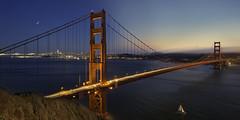 Night and Day at the Golden Gate Bridge (Lee Sie) Tags: timelapse sanfrancisco sunset night bridge goldengate bayarea water california west coast northern sfo view marin