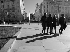 The Beatles - Strolling Minstrels ... (bobbex) Tags: beatles thebeatles johnpaulgeorgeringo merseyside pierhead liverpool bw blackwhite