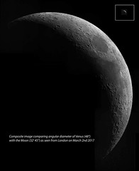 20170302 Moon Venus Angular Diameter Comparison (Roger Hutchinson) Tags: moon venus astronomy astrophotography space london solarsystem celestronedgehd11 asi174mm planets