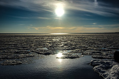 Field Of Ice (jah32) Tags: ice lakeerie lake lakes greatlakes thegreatlakes water cold winter winterlight sky sunset sun sunsets sunlight reflections reflection portstanley port poc ontario canada d750 nature