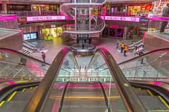 Hot Pink - Explore 3-28-2017 (ThruKurtsLens.com (Kurt Wecker)) Tags: 142428 911museum d810 fisheye kurtwecker newyork nikon oneworldtrade streetphotography thrukurtslenscom