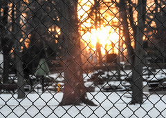 Winter Sunset Thru Playground Fence; Long Island, New York (hogophotoNY) Tags: hogophoto greatneck newyork unitedstates us