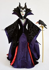 2014 Limited Edition Maleficent Doll - Sleeping Beauty - 17'' - US Disney Store Purchase - Deboxed - Standing With Staff and Diablo - Full Front View #2 (drj1828) Tags: us disneystore sleepingbeauty limitededition doll 17inch maleficent villain purchase deboxed 2014 staff diablo