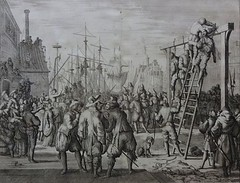 Jan Luyken (1649-1712) - THE HANGING OF DON PIEDRO PACIETO, Eighty Year War, The Spanish occupation of the Netherlands,  original copper etching print 1685 (KrooneGallery) Tags: jan luyken 16491712 the hanging of don piedro pacieto eighty year war spanish occupation netherlands original copper etching print 1685 kroonegallery rijksmuseum